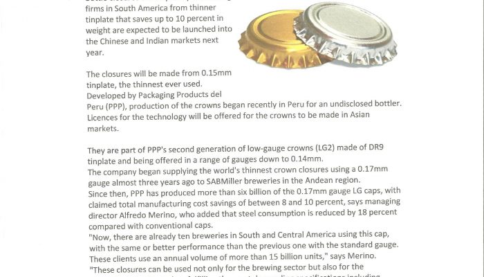 The Canmaker - Weight saving crowns for China and India 001
