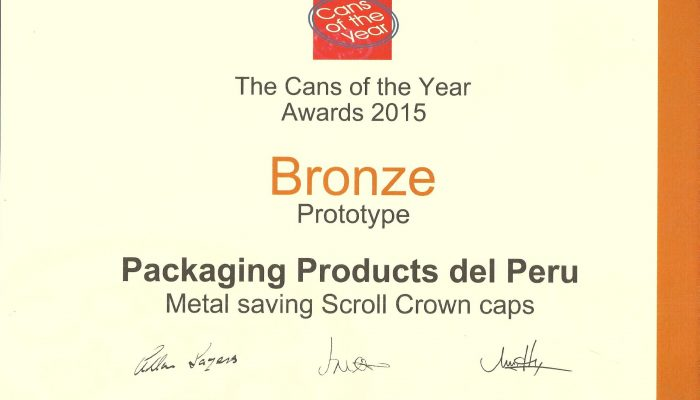 Prototype Bronze Packaging Products del Peru